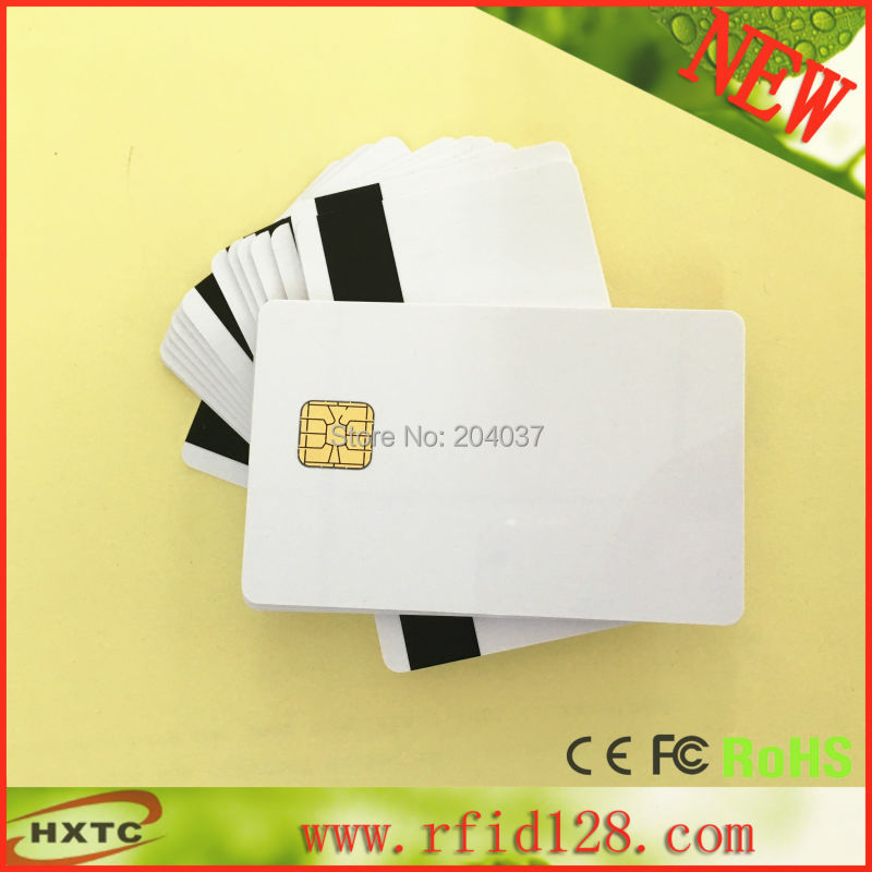 50pcs PVC card with SLE4428 chip contact smart card hotel key card ISO7816 with Hico magnetic stripe 20pcs lot contact sle4428 chip gold card with magnetic stripe pvc blank smart card purchase card 1k memory free shipping