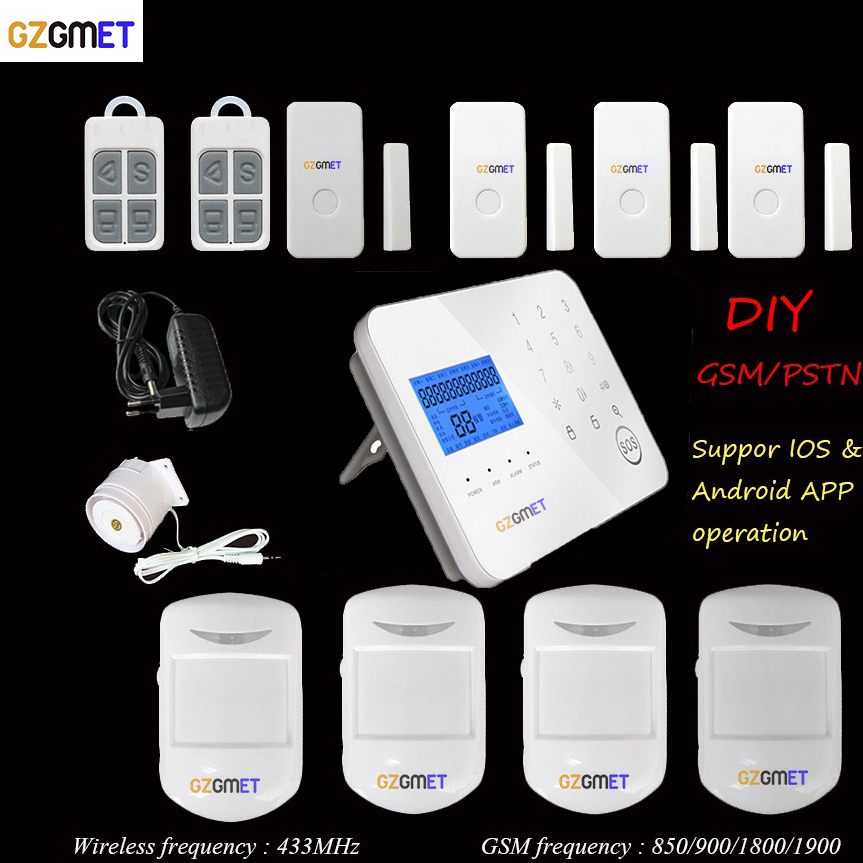 GZGMET Espagnol alarmes de sécurité à Domicile GSM 433 sans fil maison mini gsm pir alarma avec Smart Phone App contrôle
