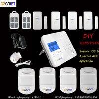 GZGMET Spanish Home security alarms GSM 433 wireless house mini gsm pir alarma with Smart Phone App control