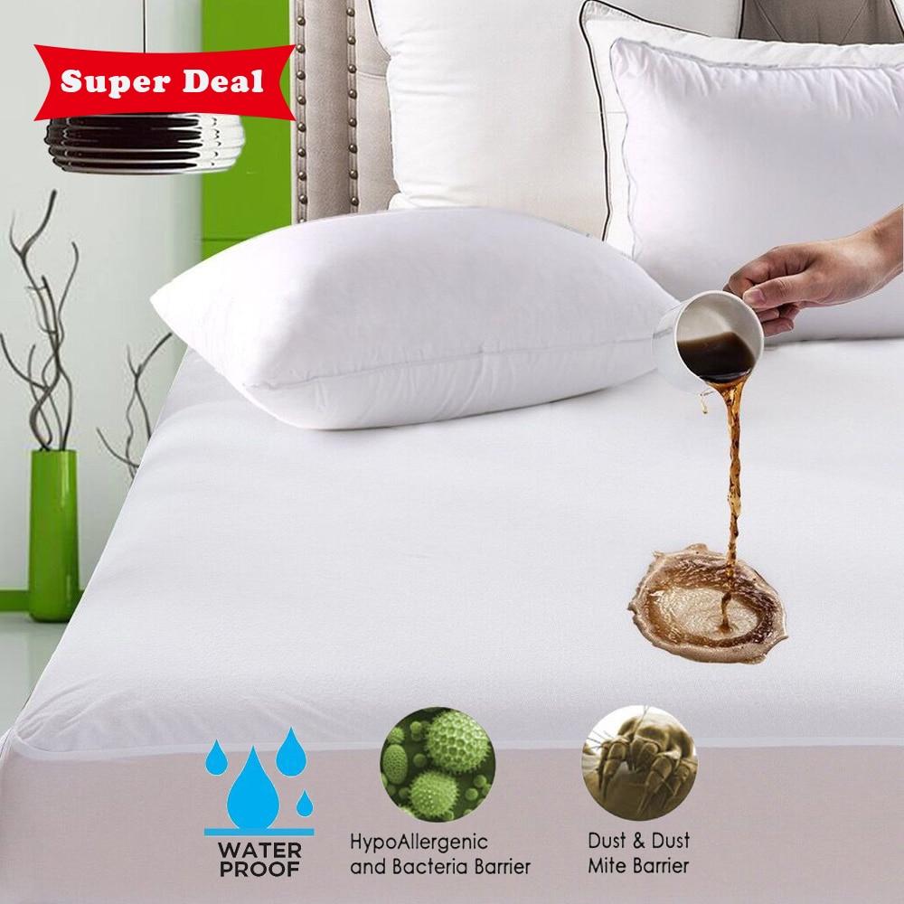 Funda de colchón impermeable suave Turetrip antiácaros Funda de colchón cubierta de cama a prueba de agua sábana cama a prueba de insectos colchón Topper