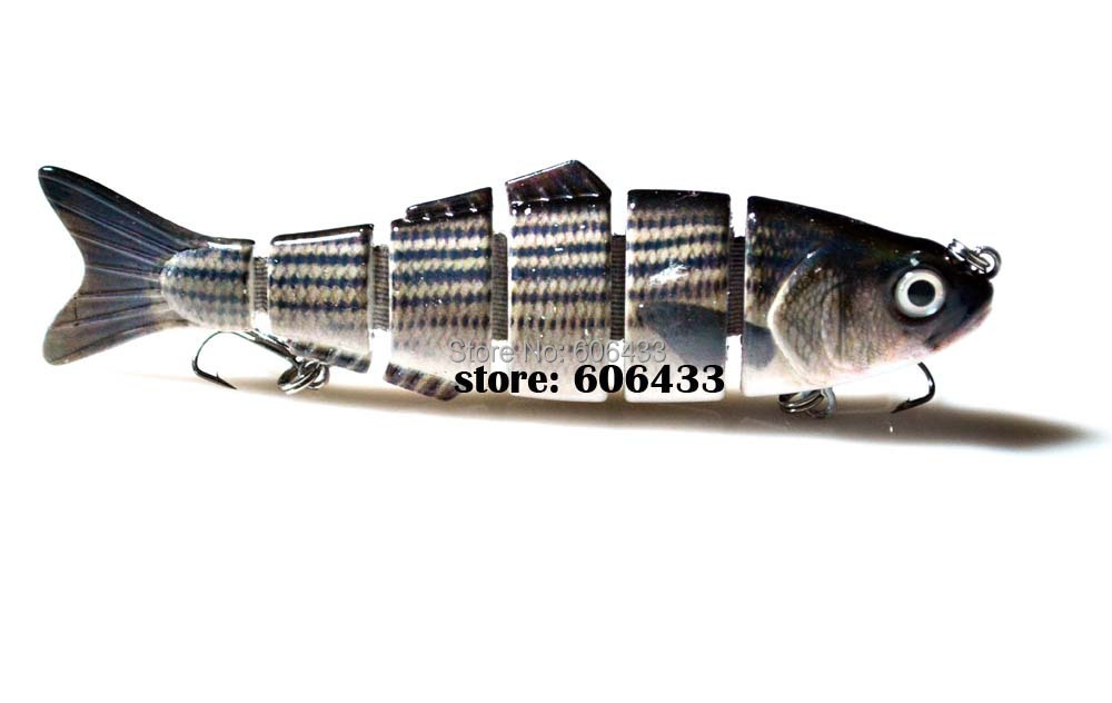Deep Sea Multi section Lure Fishing Fish Swing Lures 6 Segment Swimbait Crankbait 12cm/24g 8025-FL6L01 Free shipping
