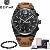 BENYAR Hot Mens Watches Military Army Top Brand Luxury Sports Casual Waterproof Mens Watch Quartz Stainless