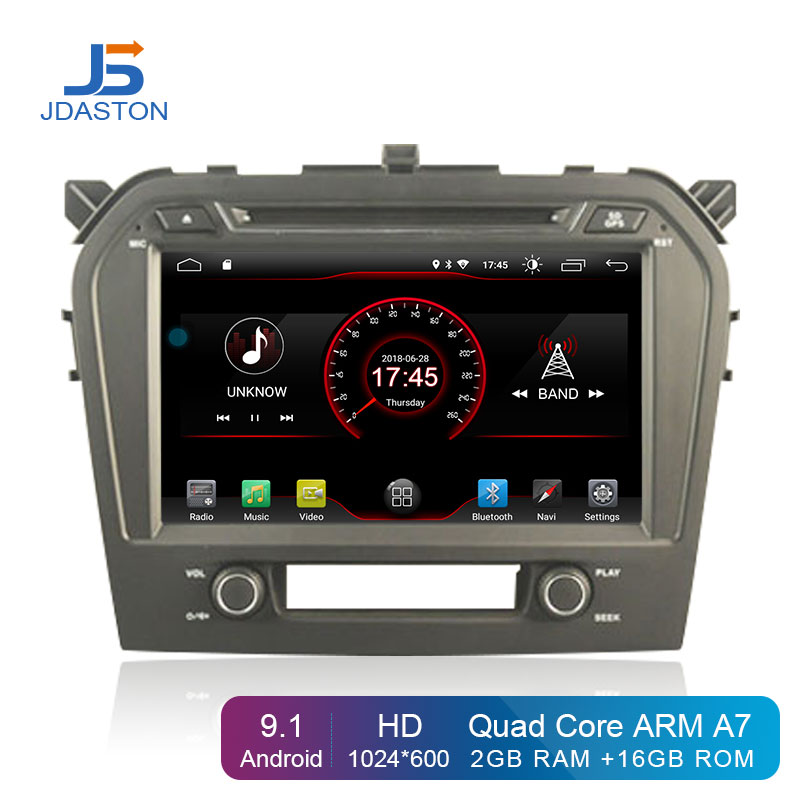 JDASTON Android 9.1 Car DVD Player For SUZUKI GRAND VITARA 2015 2016 2017 Multimedia GPS Navigation 2 Din Car Radio Stereo Audio