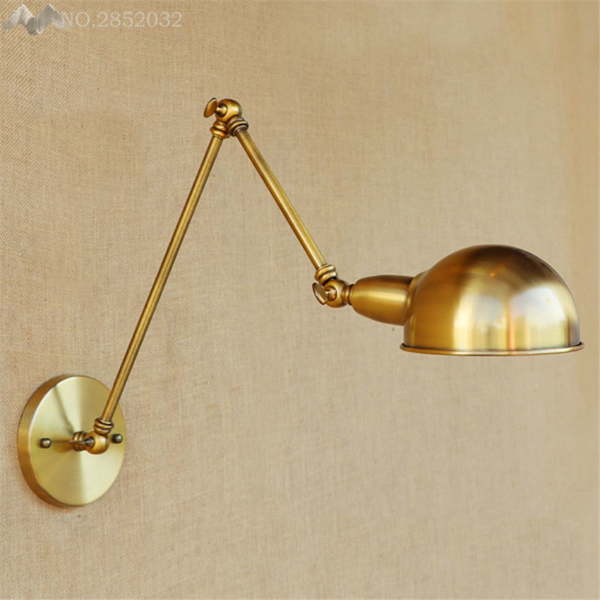 2017 New wall lamps loft vintage double long arm Lampe Lamp pared adjustable Handle Metal Rustic Lights Lighting Sconce Fixtures2017 New wall lamps loft vintage double long arm Lampe Lamp pared adjustable Handle Metal Rustic Lights Lighting Sconce Fixtures