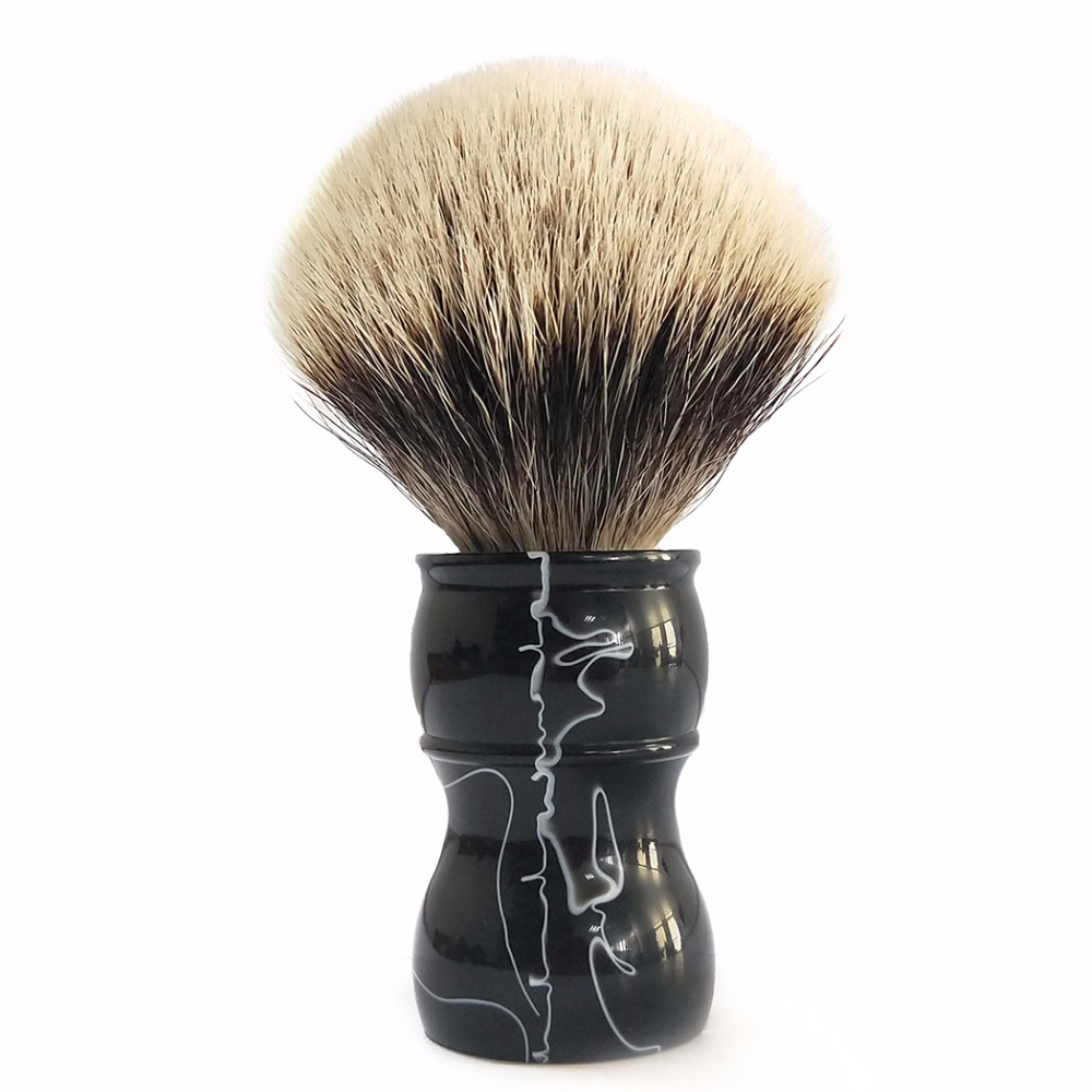 Best Shaving Brush Knots Long Handle Badger Hair Brush Facial Hair Brush Razor Brush Tool For Barber Shop titan razor brush shaving brush with wooden handle best badger hair brush
