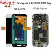 Redberry For Samsung Galaxy S4 Mini I9190 i9192 i9195 LCD Display Touch Screen Digitizer with Frame Replacement Glass + tools