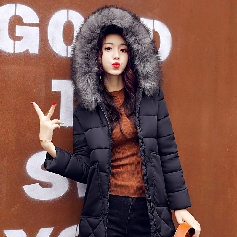 winter jacket women 2017 fashion slim long cotton-padded Hooded jacket parka female wadded jacket outerwear winter coat women потолочная люстра brilliant virgo g02295 15