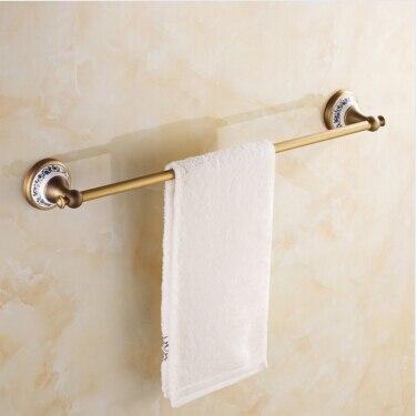 ФОТО High Quality anti brass finished single Towel bar Wall Mounted 60cm Towel rail,Towel Rack,Towel Hanger