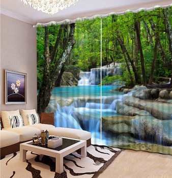 Top Classic 3D European Style Natural Beautiful waterfall scenery Fashion Customized