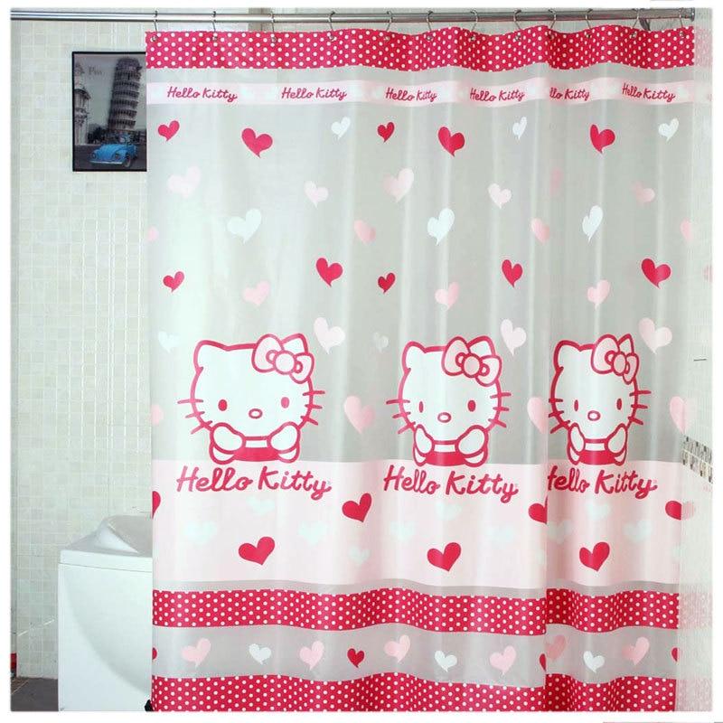 Aliexpress Com Buy Hello Kitty Shower Curtain Transparent