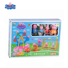Genuine Peppa Pig Toy windmill Swing Trojan Family George Pig Peluche Peppa  Action Figures Anime figuras Toys for Children Gift genuine peppa pig toy whistle post flute george pig peluche peppa action figures anime figuras peppa pig toys for children gift
