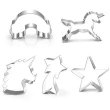 цена на 1Pcs Unicorn Head Cookie Cutter Stainless Steel Fondant Cutter Baking Cookie Mold Biscuit Mould