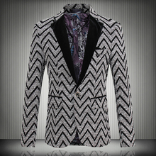 Мужской блейзер 2016 Blazer Slim Fit