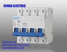 4p c Тип Мини автоматический выключатель 400v ~ 50 hz/60 hz