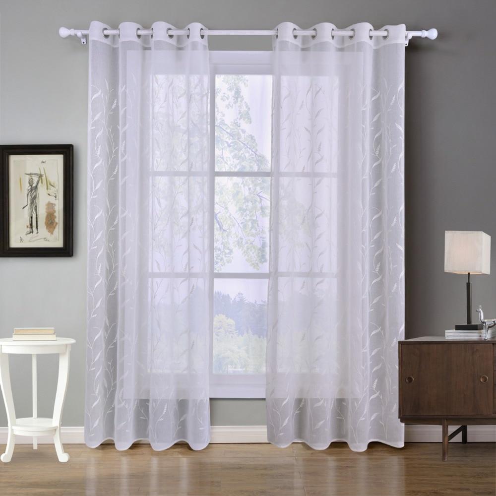 Neue Luxus Bestickt Gardinen Fenster Tll Vorhnge Fr Wohnzimmer Schlafzimmer Kche Weiss
