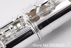 NEW Hot Flute musical instrument YFL-211SL Flute16 over C Tune E-Key Flute Silver Plated music professional shipping