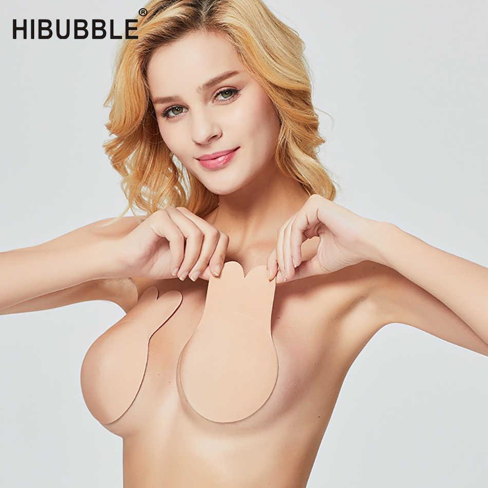 1 par de mujeres autoadhesivo Sujetador Push Up Crop Top silicona pezón cubierta pegatinas mujeres Invisible sujetador sin tirantes bh invisible