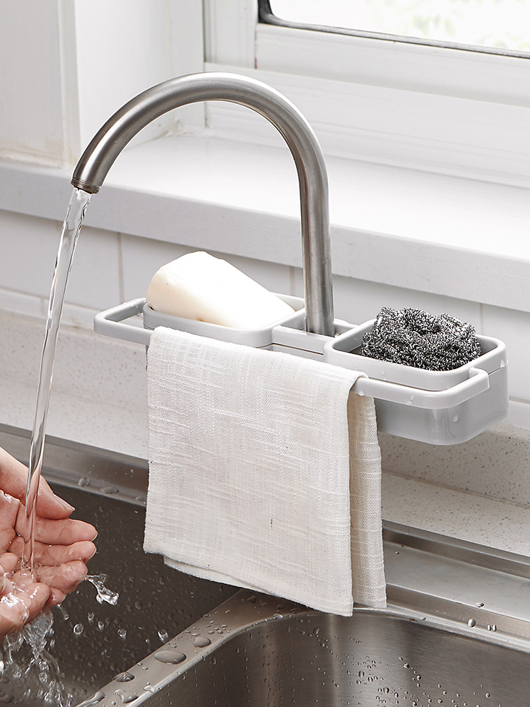 Kitchen Faucet Rack Pool Rag Drain Household Plastic Free