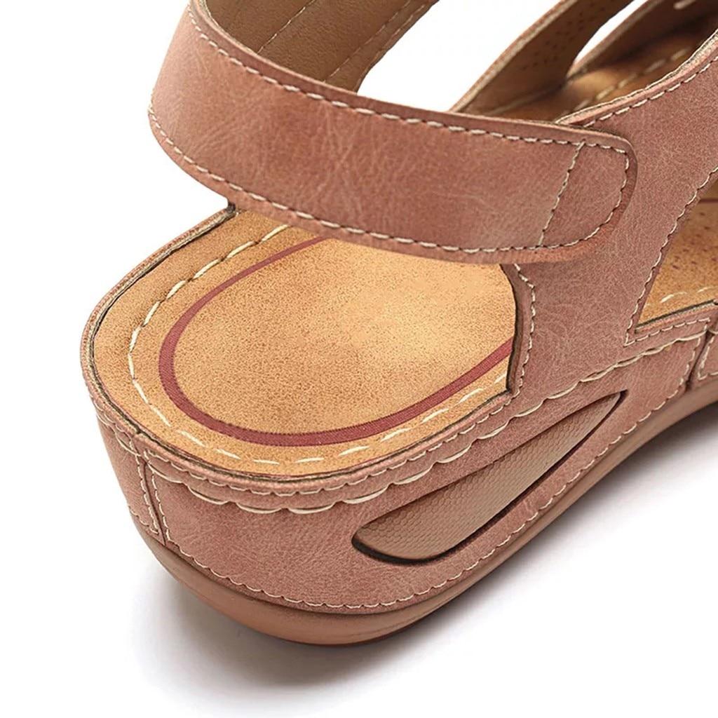 HTB1bq.VXpP7gK0jSZFjq6A5aXXat Women's Sandals Shoes Ladies Girls Comfortable Ankle Hollow Round Toe Sandals Soft Sole Shoes Fashion Large Size Sandals Shoes