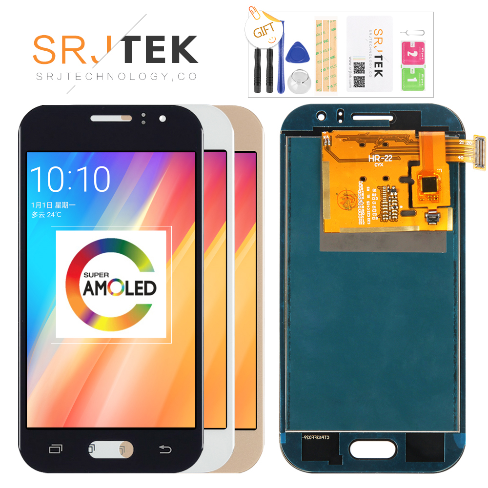 Original 4.3'' Super AMOLED LCD for SAMSUNG Galaxy J1 Ace Display J110 J110H J110F J110M Touch Screen Digitizer Replacement