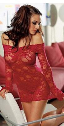 New-2014-off-shoulder-lace-mesh-women-s-half-slips-two-pieces-slip-dress-g-string (2)