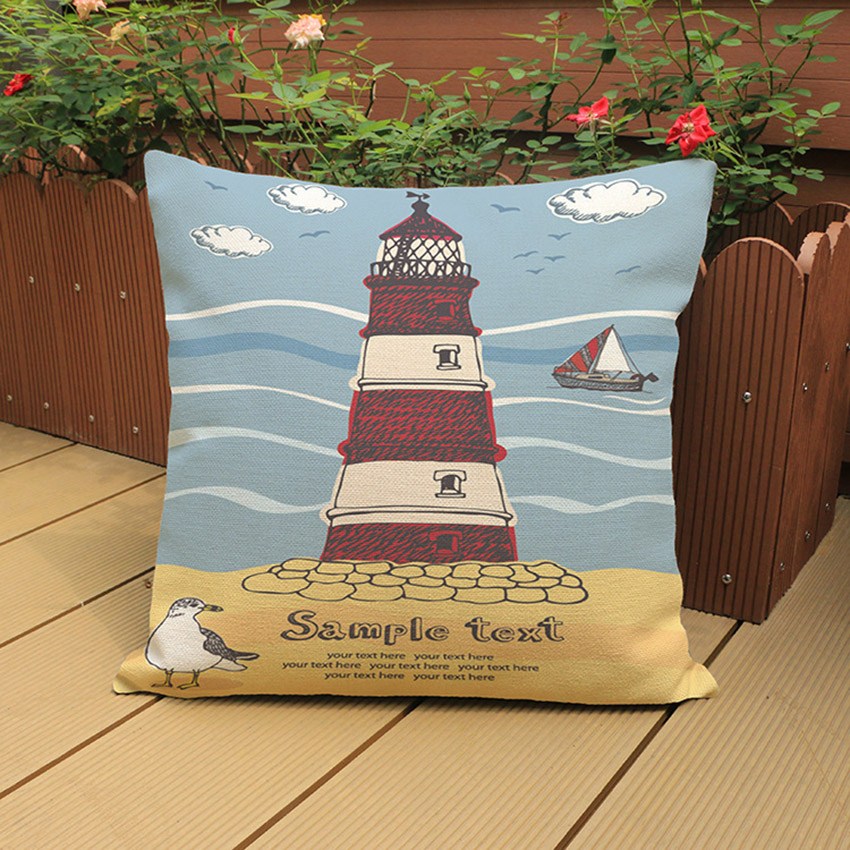 Summer Beach Cushion Cover Hawaii Style Hand Painting Decorative Pillows Home Decor Sofa throw Pillowcases Vintage Decoration