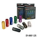 D1spec JDM Billet Aluminum Wheel Racing Lug Nuts P:1.25, L:52mm 20pcs/set  D1-660 1.25
