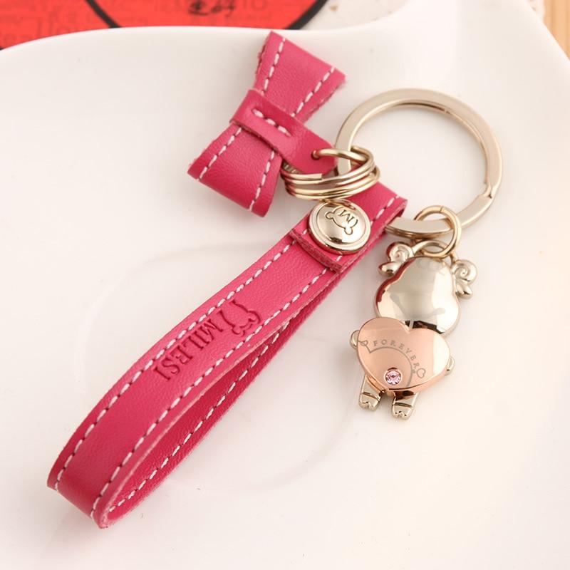Milesi - New 2017 Brand Creative Couple Sheep Keychain Key chain Ring for Women Men Novelty innovative Items Lover Trinket K0171
