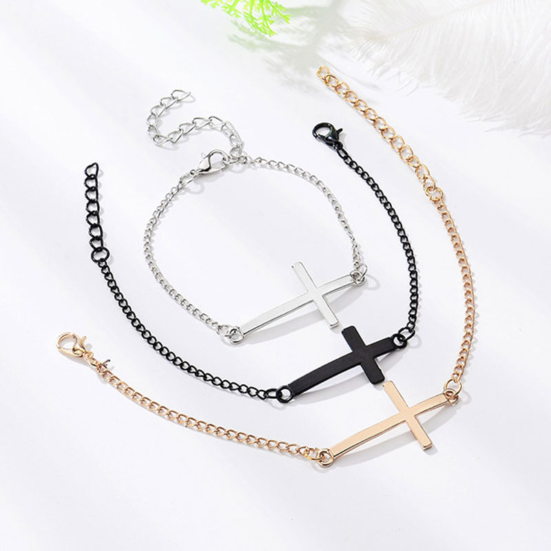 Cross Gold Hand Chain Link Male Mens Silver Charms Adjustable Bracelet Homme Men Jewelry Holy Knight Metal Bracelets for Women in Charm Bracelets from Jewelry Accessories