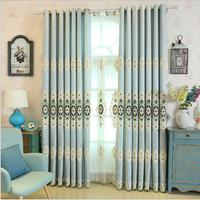 Embroidery Luxury Curtain For Bedroom Kitchen Curtains For Living Room Modern Cortinas Fabric Window String Curtains