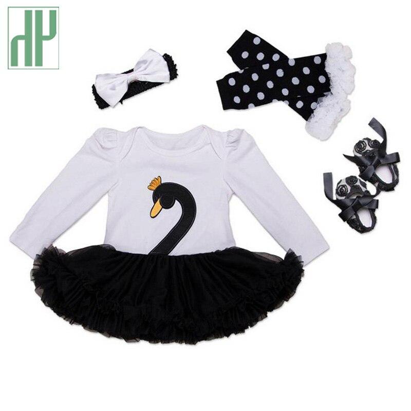 Christmas baby girl clothes 4pcs Swan infant clothing Suit Princess Tutu Romper Dress/Jumpsuit Party Birthday Costumes Vestido aqualife design шкаф с зеркалом aqualife design мальме 60