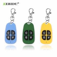 KEBIDU Universal 433MHz pilot bezprzewodowy 4 klucze kopiowanie pilota klonowanie pilot do drzwi garażowych powielacz klucz