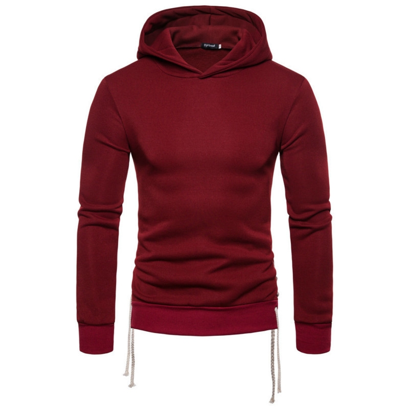 Men's Autumn New Pullover Hoodie Hoody Fashion For Men Casual Solid Color Long Sleeve Hooded Male Tops 5 Colour