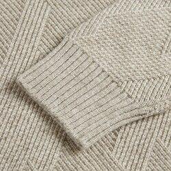 Echt Kasjmier 100 Pure mannen Trui Cable Knit Dikke Gebreide Jasje Mannelijke Jeugd Groothandel mannen Trui Wollen Koreaanse stijl