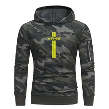 0077a3315698 Mens Camouflage Hoodies Male hooded pullover Sweatshirts Fashion Military  Hoody For Men YAMAHA VR 46 printed