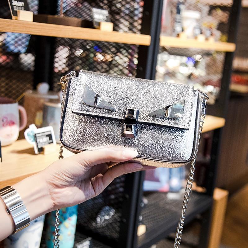 New female chain bag small monster shoulder Messenger bag mini fashion 6