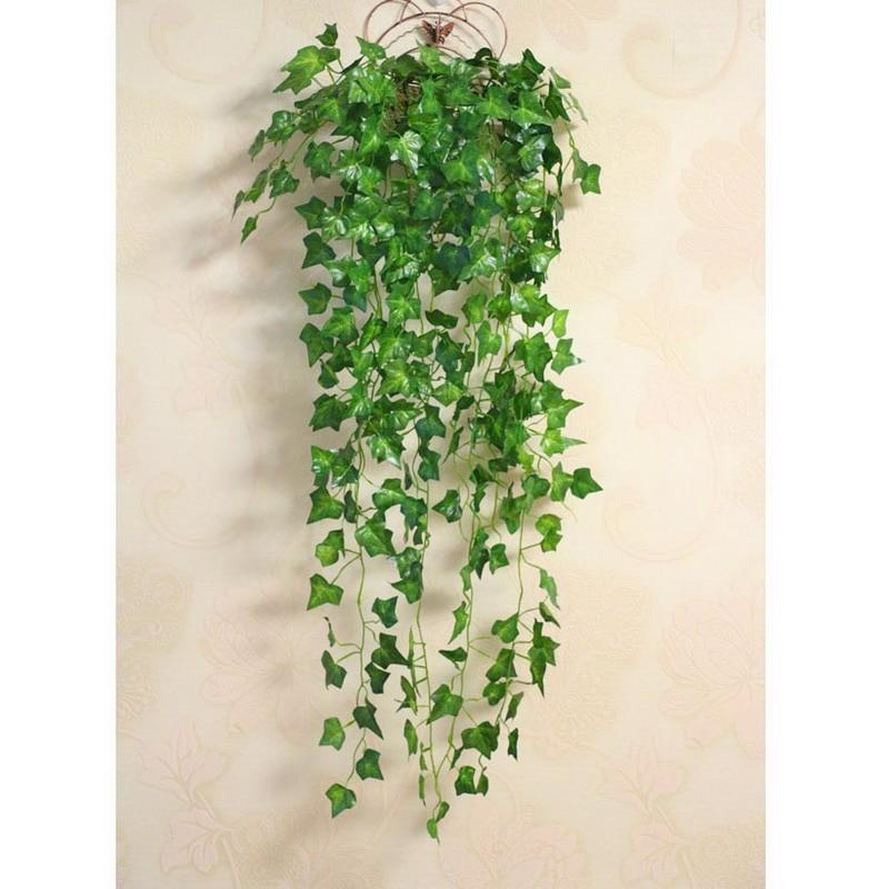 Ekologicky šetrné umělé zelené nástěnné dekor Květina vinné ratanové domácí dekorace VBC71 P50
