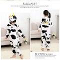 Vaca linda Niños de la Historieta Animal Del Partido de Cosplay Pijama de Una sola pieza Trajes Trajes Personalidad Buzos ropa de Dormir Suave