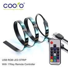 USB LED Strip 5050 RGB TV Background Lighting Kit with 17Key RF Controller or Mini 3Key Controller ,1Meter/Set