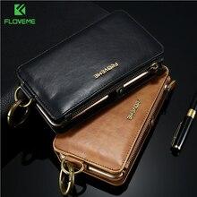 FLOVEME роскошный кожаный чехол Телефон Сумка для айфона7 6 6S плюс Чехол Ретро мода элегантный бумажник Сумка Чехол для айфона 7 6 s плюс
