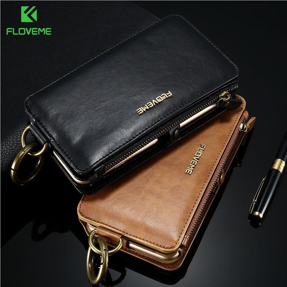 bilder für FLOVEME Luxus Leder Handytasche Fall Für iPhone 7 6 6 s Plus abdeckung Retro Mode Elegante Brieftasche Tasche Abdeckung für iPhone 7 6 s Plus