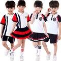 Лето детская школа одежда и Коротким рукавом хор начальной школы студентов чтению Британский студент школьная форма
