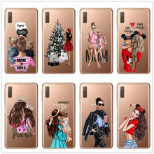 Black Brown Hair Baby Mom Girl Queen Customer Phone Case for Samsung A5 J3 J5 J7 2017 J4 J6 A7 A6 A8 Plus 2018 Vogue Cover Cases(China)