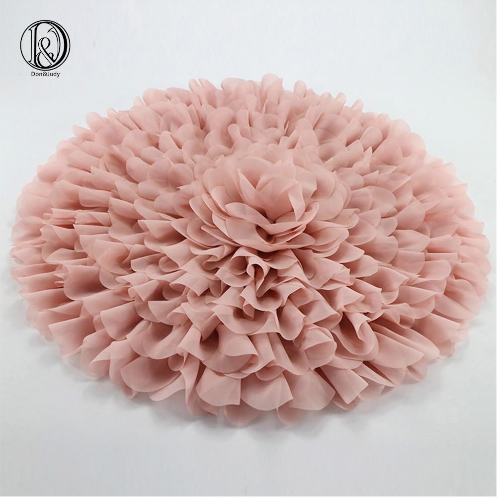 (Diametru = 49 ~ 50cm) Stil de flori Mata Soft Chiffon Fotografie - Așternut