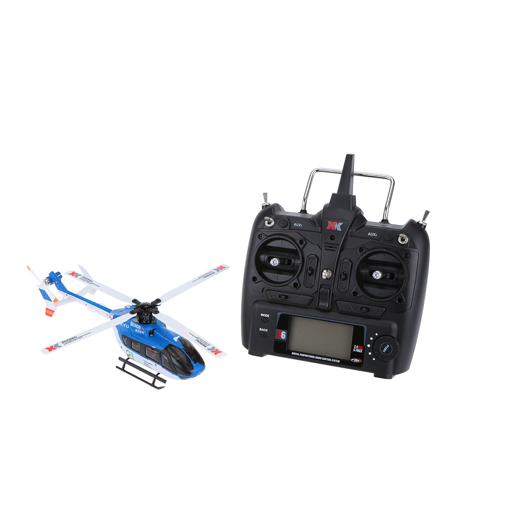 Hot Sell K124 6CH Brushless motor EC145 3D 6G System RC Helicopter RTF Compatible with FUTABA