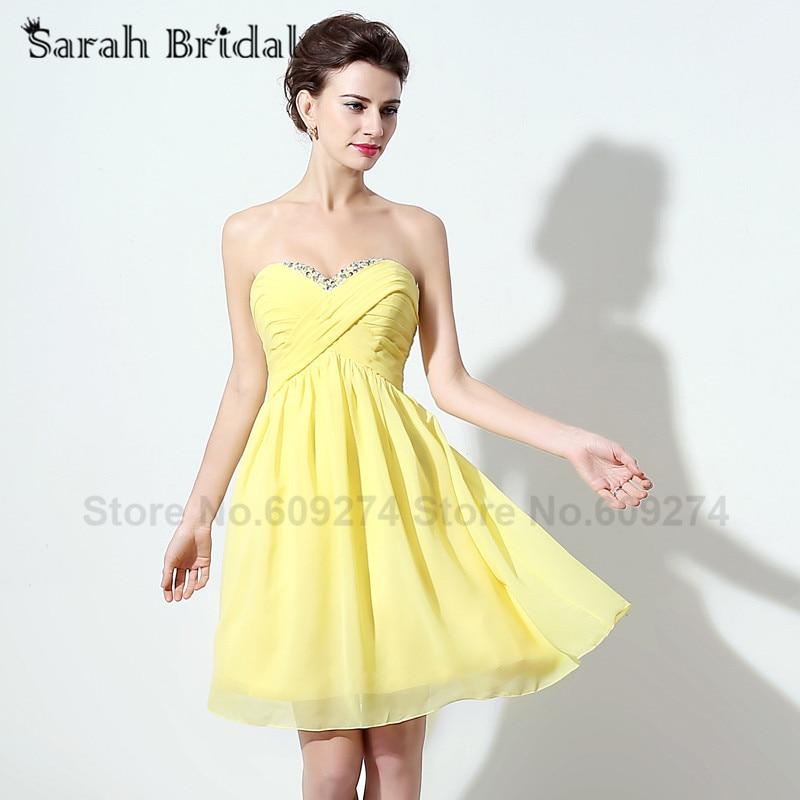 Online Get Cheap Yellow Short Prom Dresses -Aliexpress.com ...