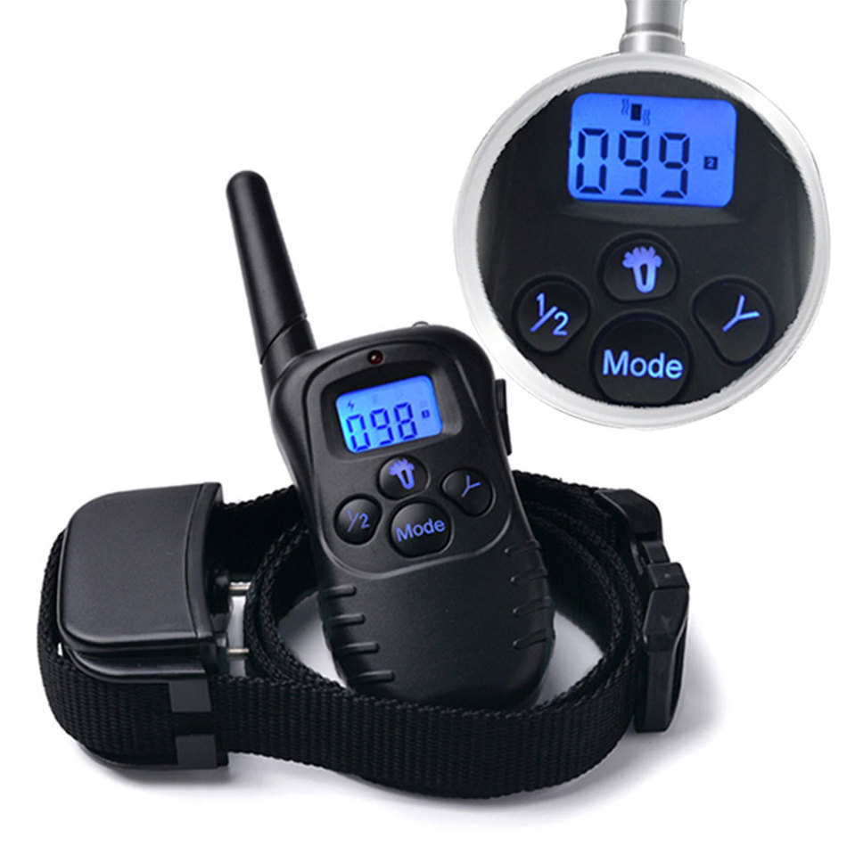 100 Levels LCD Electric Shock Collar 300M Dog Training Remote Control for 1 dog 998D1 with retail box 70pcs/lot 8477