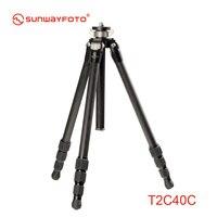 SUNWAYFOTO T2C40C углеродное волокно Professional камера штатив для ЦЗК Traveller Tripode