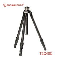 SUNWAYFOTO T2C40C Viajante De Fibra De Carbono Tripé de Câmera Profissional para Dslr Tripode