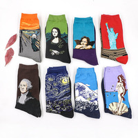 New Spring Summer Fashion Retro Women New Personality Art Van Gogh Mural World Famous Oil Painting Series Men Socks Funny Socks Women Socks